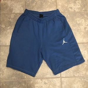 Mens Jordan sweatshorts light blue large